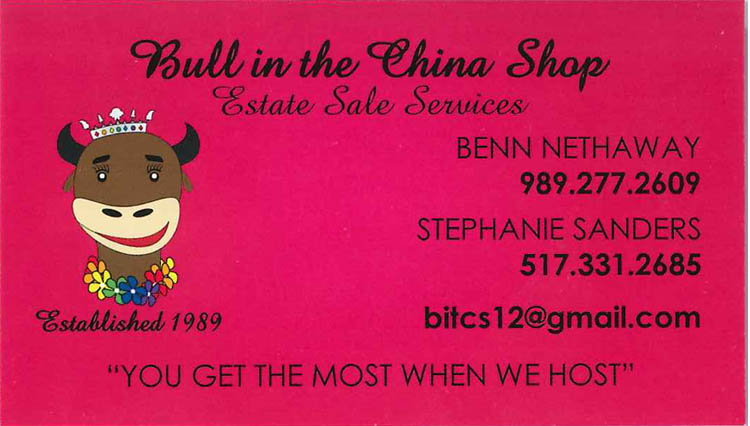 classified ad Bull in the China Shop
