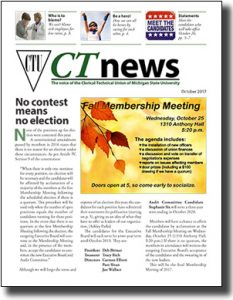 first page graphic of October 2017 CTU newsletter
