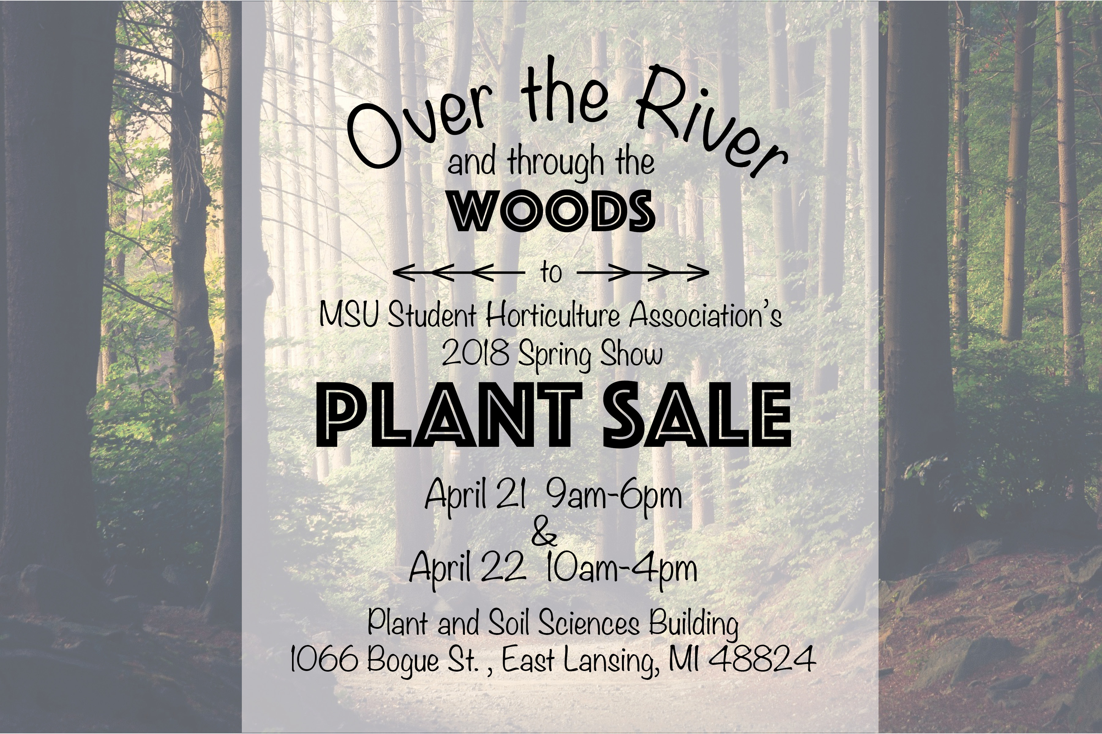 Post card about Plant Sale